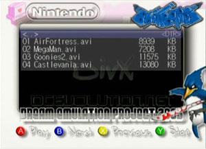 Capture d'écran du logiciel Dream Emulation Project - Fami...