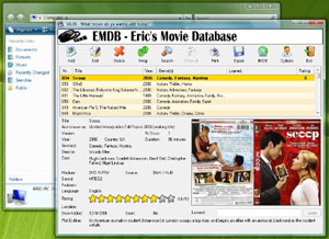 Capture d'écran du logiciel EMDB 3.09 fr