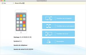 Capture d'ecran du logiciel EaseUS MobiMover Free for Mac 4.8 fr