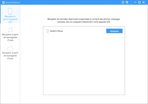 Capture d'ecran du logiciel EaseUS MobiSaver Free 7.5 Build 2017.10.19 fr