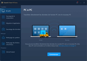 Capture d'ecran du logiciel EaseUS Todo PCTrans Free 11.0 fr