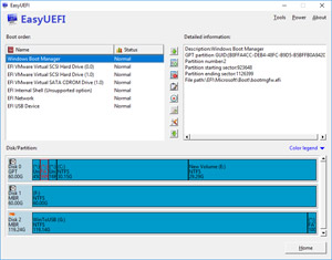 Capture d'écran du logiciel EasyUEFI Free 3.0