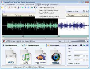 Capture d'ecran du logiciel Easy Mp3 Wma Cutter 2.0 fr