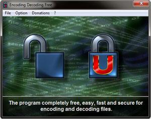 Capture d'écran du logiciel Encoding Decoding Free 3.5.1 fr