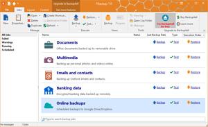 Capture d'ecran du logiciel FBackup 8.3.237 fr
