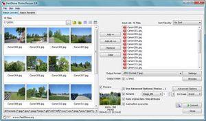 Capture d'écran du logiciel FastStone Photo Resizer 3.8