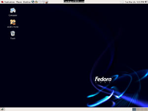 Capture d'écran du logiciel Fedora Core 4 Finale - DVD