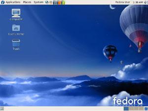 Capture d'écran du logiciel Fedora Core 7 Finale - DVD