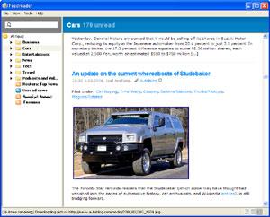 Capture d'écran du logiciel FeedReader 3.14 fr