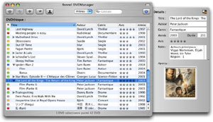 Capture d'ecran du logiciel fennel DVDManager 1.8.6 fr