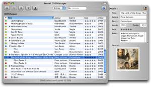 Capture d'écran du logiciel fennel DVDManager 1.8.6 fr