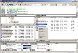 Capture d'ecran du logiciel FileZilla 3.49.1 fr - Windows