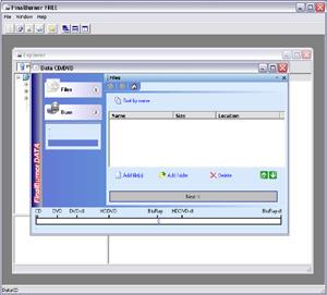 Capture d'écran du logiciel FinalBurner Free 2.24.0.195