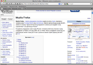 Capture d'ecran du logiciel Firefox 53.0.3 fr - MacOS