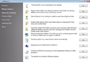 Capture d'écran du logiciel FixWin 1.2