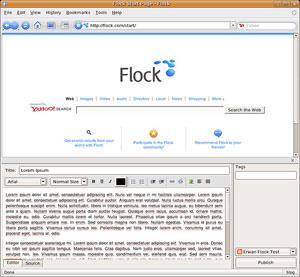 Capture d'ecran du logiciel Flock 2.6.1 - Linux