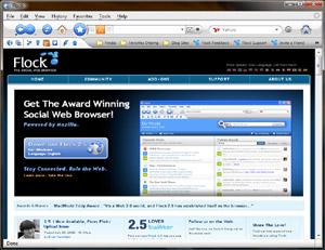 Capture d'ecran du logiciel Flock 2.6.1 - Windows