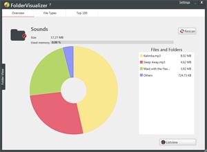 Capture d'écran du logiciel FolderVisualizer 7.1