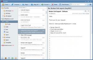 Capture d'ecran du logiciel Foxmail 7.2.9 build 116 fr