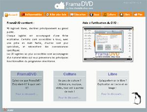 Capture d'écran du logiciel FramaDVD 1.11