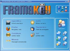 Capture d'écran du logiciel FramaKey 2.2.0.2 fr