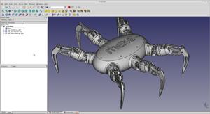 Capture d'ecran du logiciel FreeCAD Portable 0.17.13522 fr
