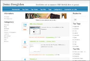 Capture d'écran du logiciel FreeGlobes 03/01/2009-RC2 fr