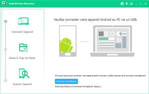 Capture d'ecran du logiciel Free Android Data Recovery 1.1.12 fr