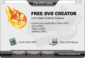 Capture d'écran du logiciel Free DVD Creator 2.0