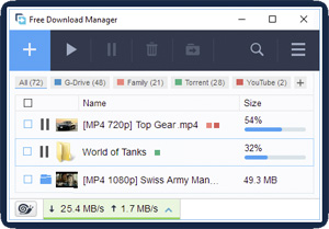 Capture d'ecran du logiciel Free Download Manager 5.1.38 fr
