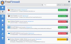 Capture d'ecran du logiciel Free Firewall 2.5.1 fr