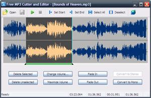 Capture d'ecran du logiciel Free MP3 Cutter and Editor 2.8