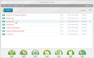Capture d'ecran du logiciel Freemake Audio Converter 1.1.8.22 fr