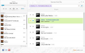 Capture d'ecran du logiciel Freemake Music Box 1.0.7.19