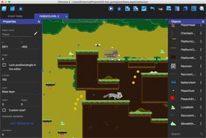 Capture d'ecran du logiciel GDevelop 5.0.0b89 fr