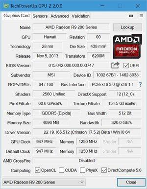 Capture d'ecran du logiciel GPU-Z 2.29.0 fr