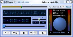 Capture d'écran du logiciel GabPlayer 2.3.1.8 fr