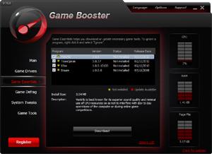 Capture d'écran du logiciel Razer Cortex 7.6.8.66 fr