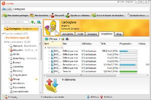 Capture d'écran du logiciel GigaTribe 3.04.013.6884 fr