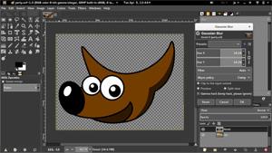 Capture d'ecran du logiciel Gimp 2.10.18 fr - Linux