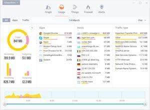 Capture d'ecran du logiciel GlassWire Firewall 2.1.167.0 fr