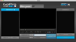 Capture d'ecran du logiciel GoPro Studio 2.5.7.321 fr - MacOS