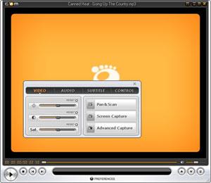 Capture d'écran du logiciel Gom Player 2.3.31.5290 fr
