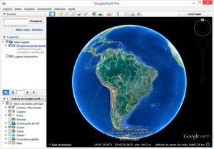 Capture d'ecran du logiciel Google Earth Pro 7.3.2.5776 fr - Windows