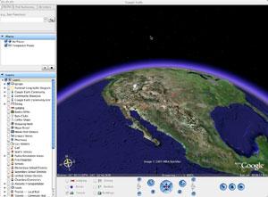 Capture d'écran du logiciel Google Earth Pro 7.3.1.4507 fr...