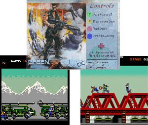 Capture d'écran du logiciel Mame Green Beret Single Arcade