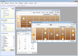 Capture d'ecran du logiciel Guitar and Bass 1.2.2