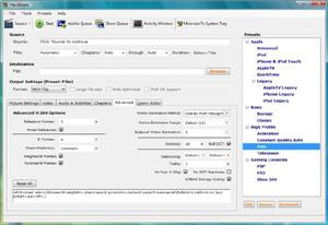 Capture d'écran du logiciel HandBrake 1.0.7 - Windows