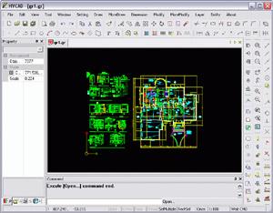 Capture d'écran du logiciel HyCad 5.35