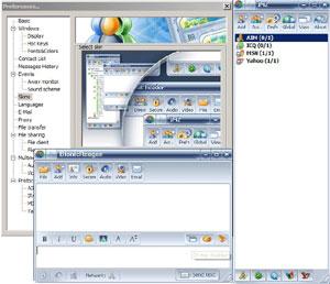 Capture d'écran du logiciel IM2 Messenger 2.0 fr